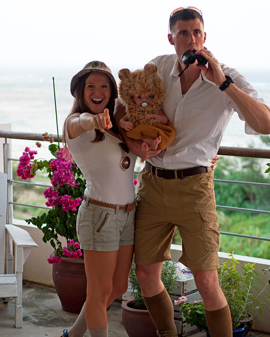 Easy family costume ideas that can be found in your closet like this safari themed one. | The Dating Divas