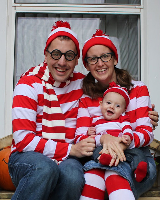 Matching family costume ideas that are Waldo themed. | The Dating Divas