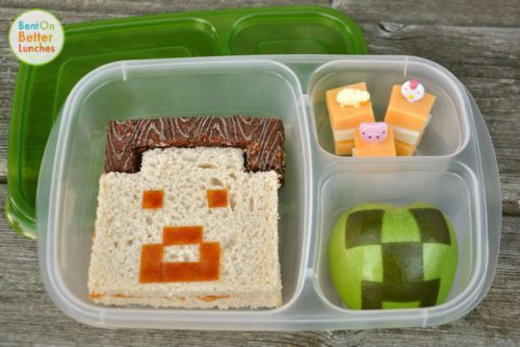 Minecraft-themed lunch   The Dating Divas