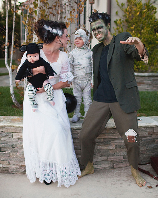 Get scary with a family of monsters family costume for 3 or more. | The Dating Divas