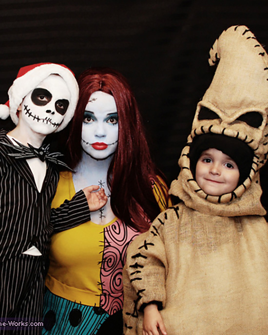 Your favorite family film The Nightmare Before Christmas is now your favorite family costume idea. | The Dating Divas