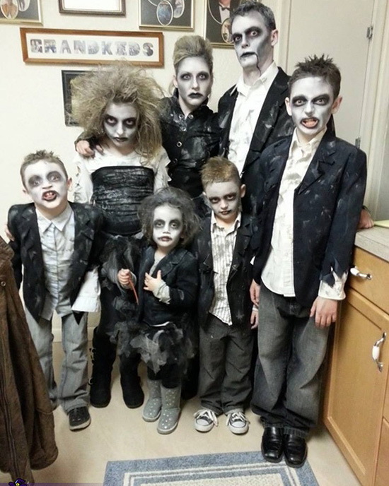 Family costume ideas fro a bunch of zombies. | The Dating Divas