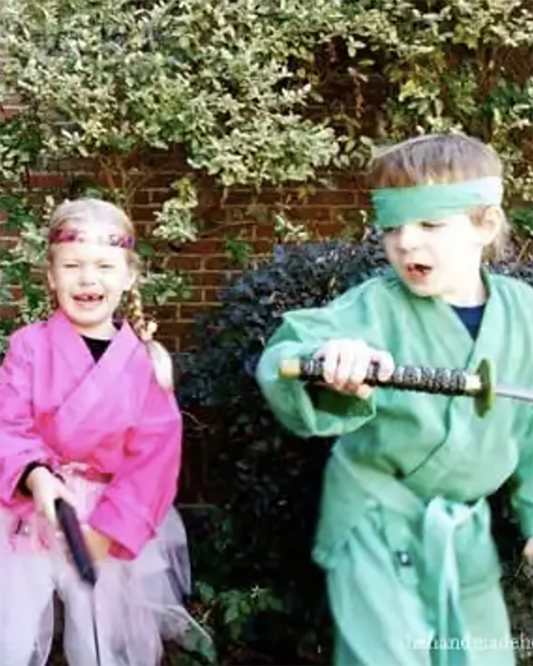 Every kid wants to be a ninja at some point. Add this to your list of family costume ideas. | The Dating Divas