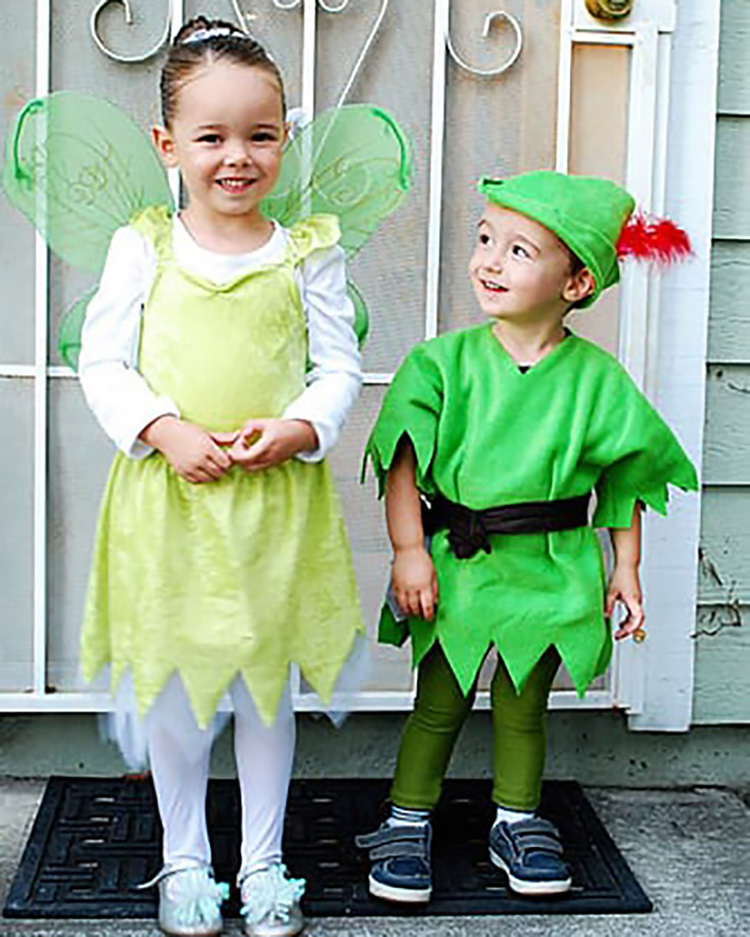 Peter Pan family costume ideas can include Tinkerbell, pirates, lost boys, and more. | The Dating Divas