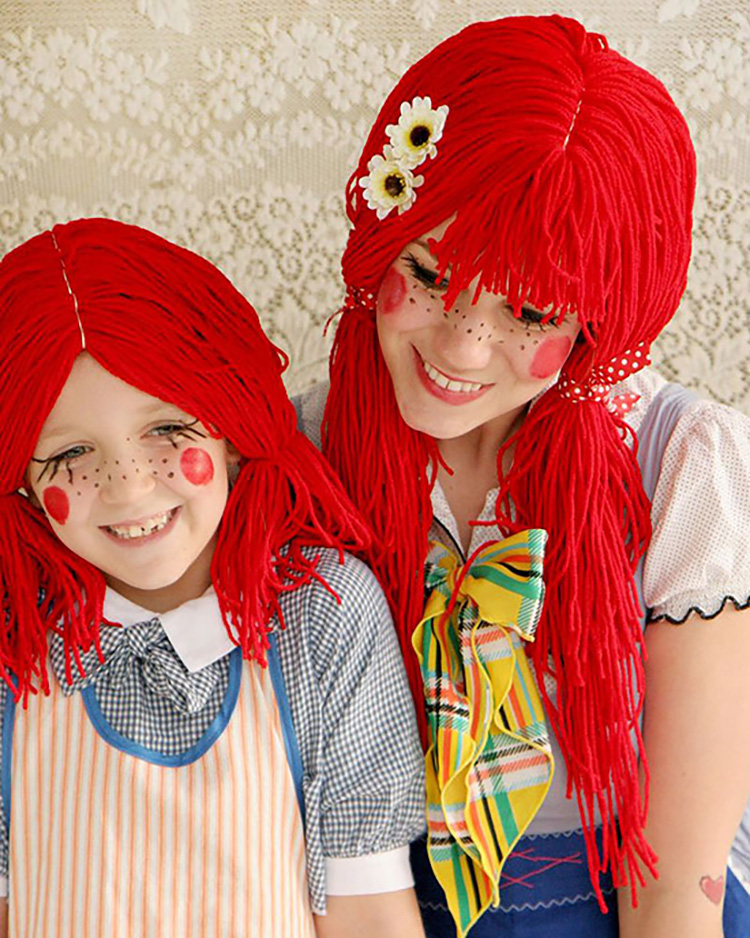 Rag dolls for a fun family costume idea. | The Dating Divas