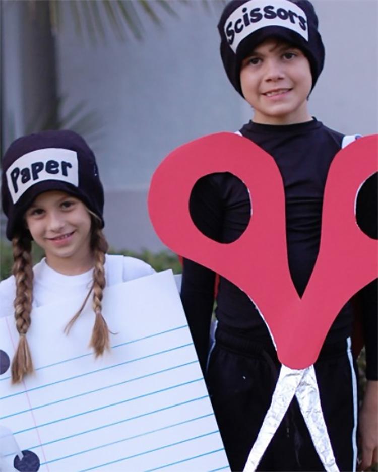 Unique family costume ideas needed? How about rock, paper, scissors? | The Dating Divas