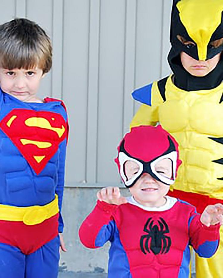 Superhero sibling family costume ideas. | The Dating Divas