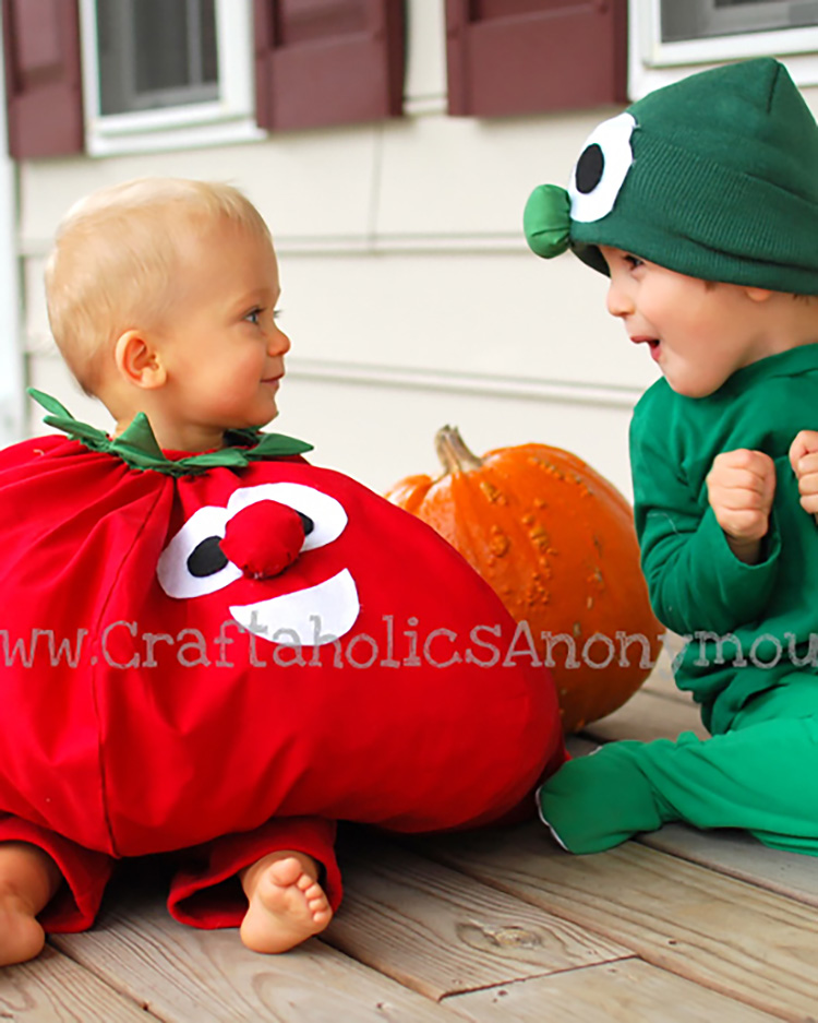 Veggies aren't the top of your family costume ideas list, but they should be! | The Dating Divas