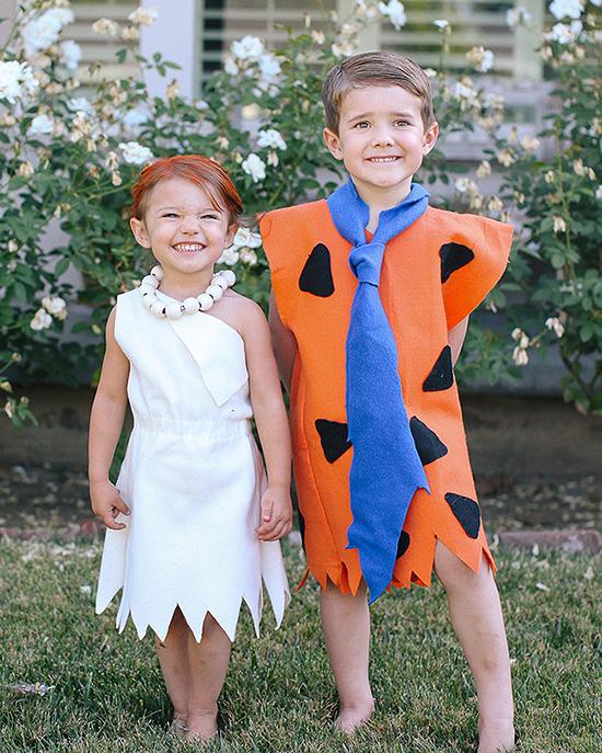 Classic cartoon family costume ideas for The Flintstones. | The Dating Divas