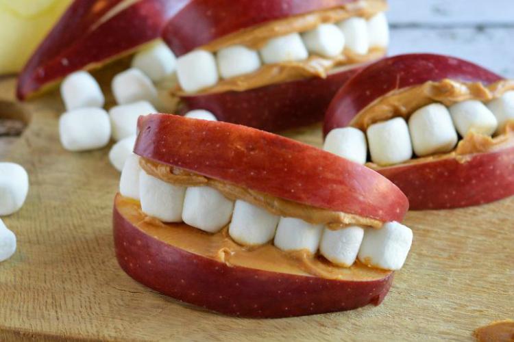 Apple peanut butter teeth   The Dating Divas