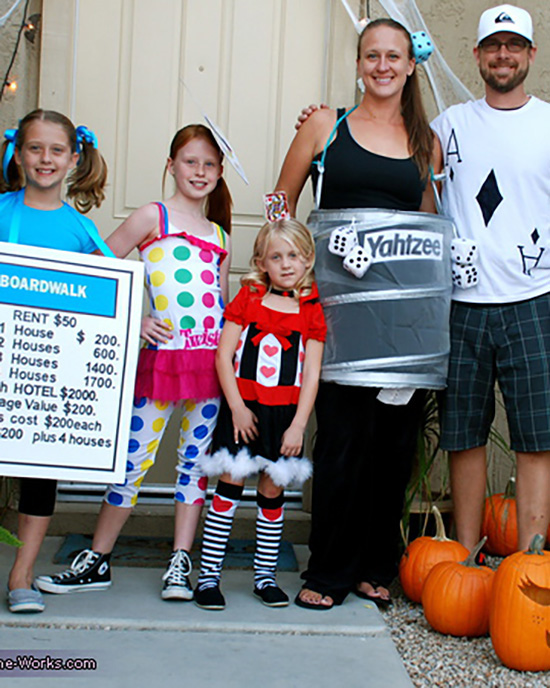 DIY family costume idea for a game-themed Halloween. | The Dating Divas