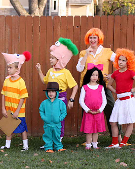 Everyone loves cartoon family costume ideas like this Phineas and Ferb idea. | The Dating Divas