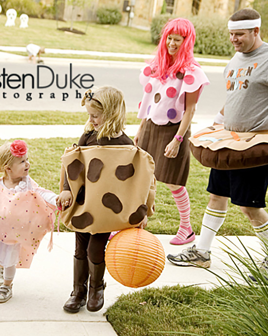 Sweets and baked goods for family costume ideas. | The Dating Divas