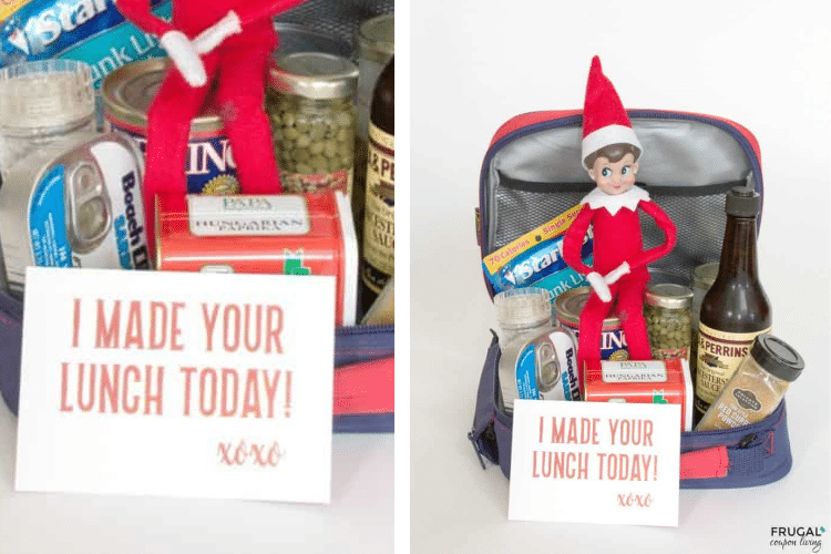 Elf on the shelf packs a yucky lunch for school   The Dating Divas