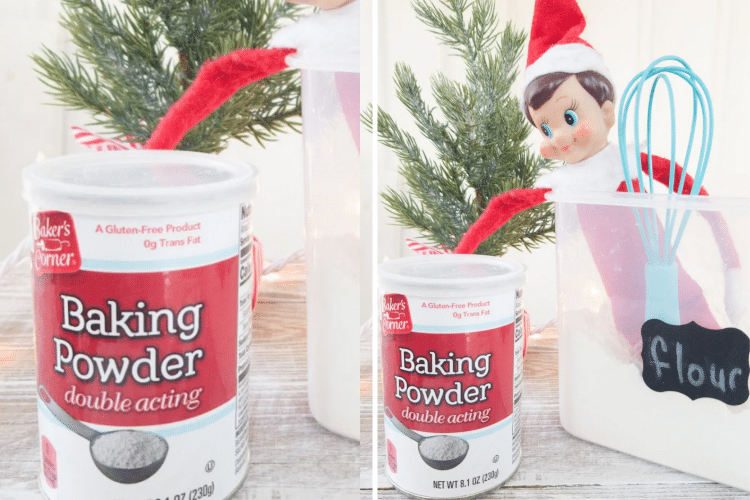 Elf on the shelf reaches for baking powder   The Dating Divas