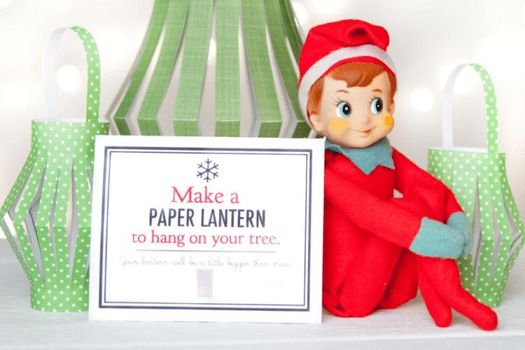 Craft elf on the shelf making a paper lantern    The Dating Divas