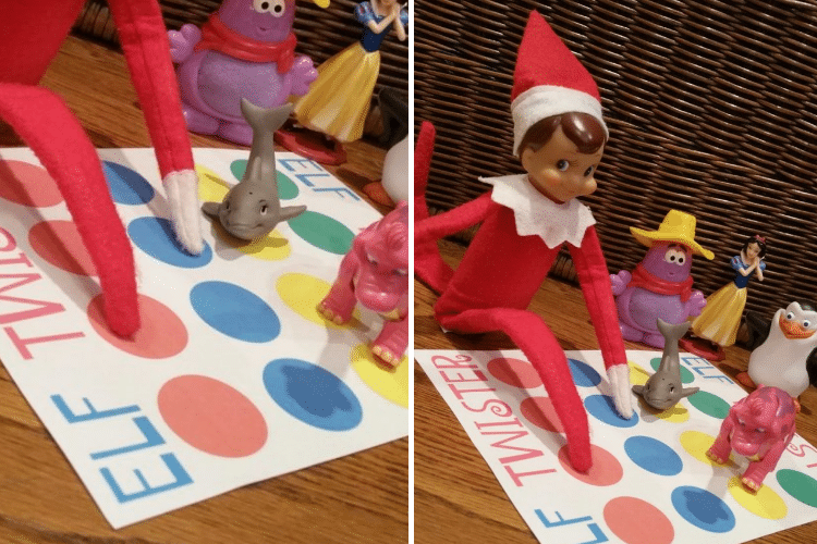 Elf on the shelf playing Twister with friends   The Dating Divas