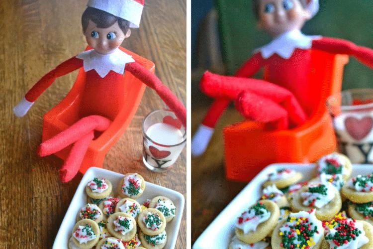 Elf on the shelf eating sugar cookies   The Dating Divas