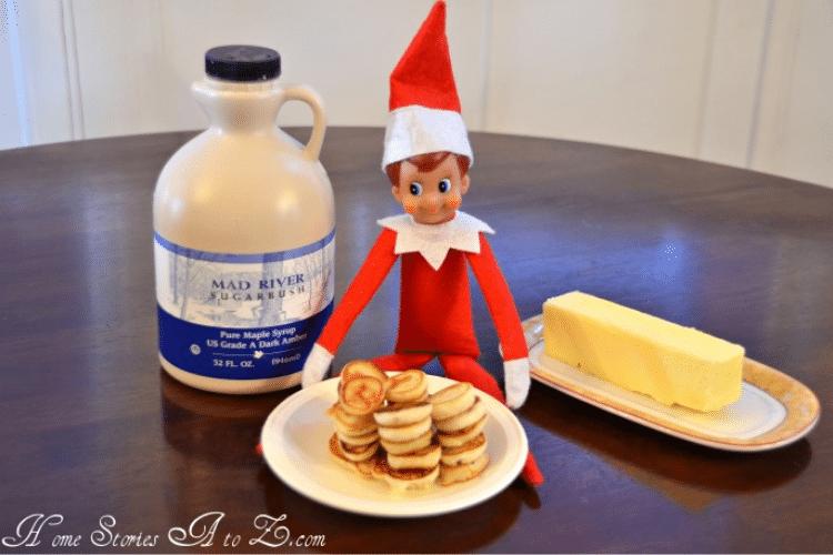Elf on the shelf eats tiny pancakes   The Dating Divas