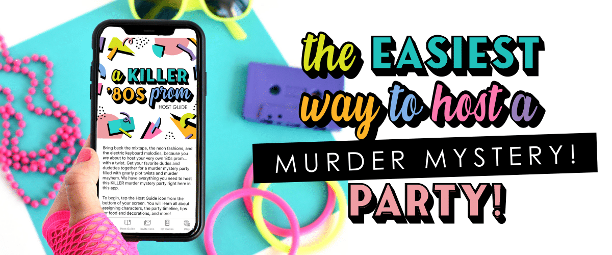 Host a murder mystery game  - no printing required!   The Dating Divas