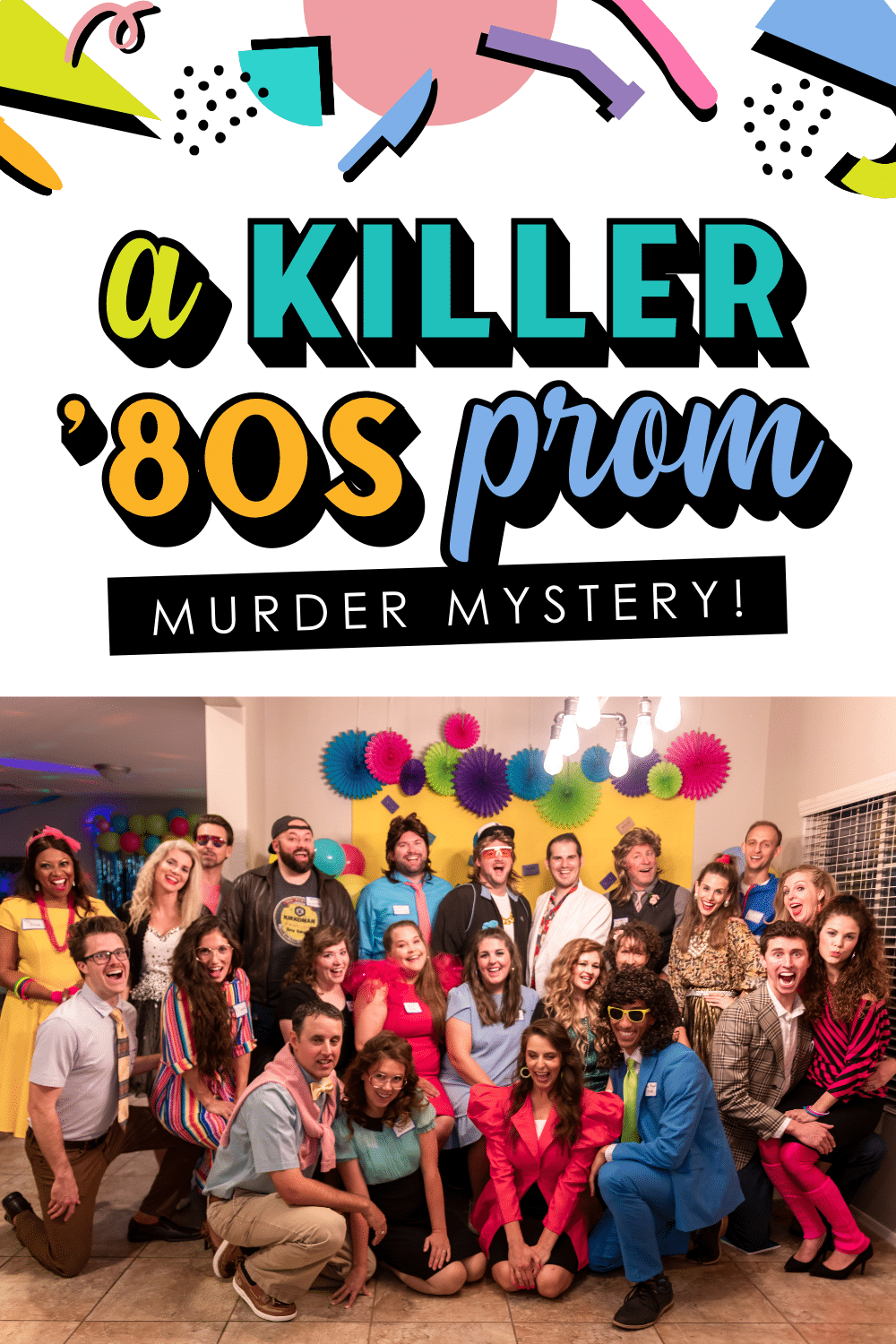 This sounds like the BEST murder mystery game! Prom in the 80s! Amazing!  The Dating Divas #MurderMystery #MurderMysteryGame #MurderMysteryApp