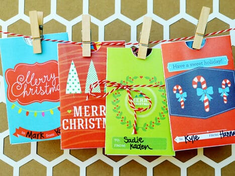 Printable gift card holders for white elephant gifts | The Dating Divas