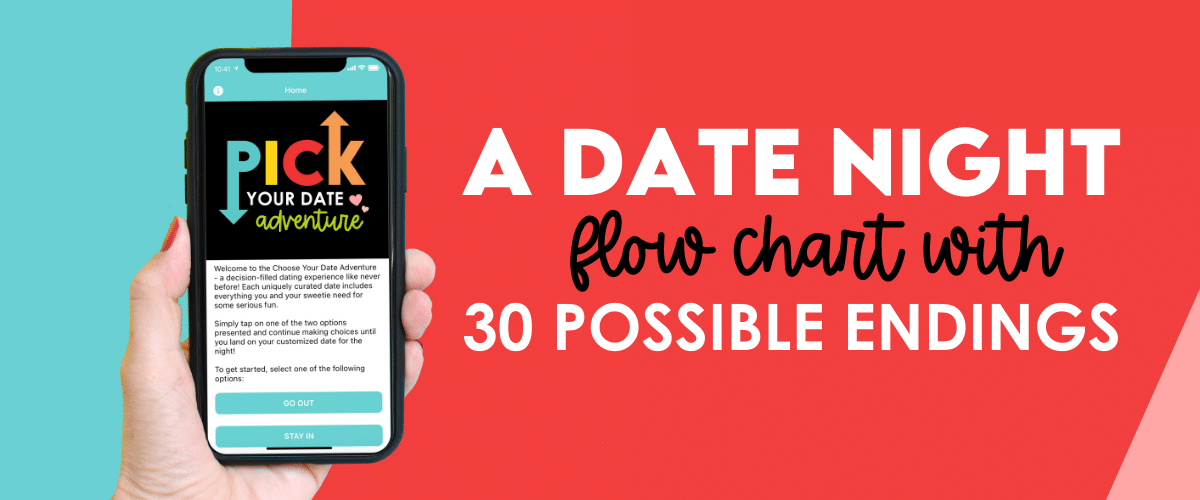 """Easy """"this or that"""" questions will lead you through a flow chart to your perfect date night adventure. 