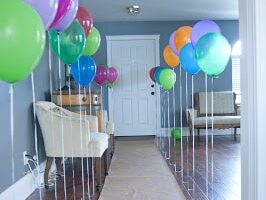 A walkway created by balloons for a perfect birthday party entrance | The Dating Divas