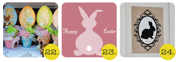 easter printables of bunnies and eggs