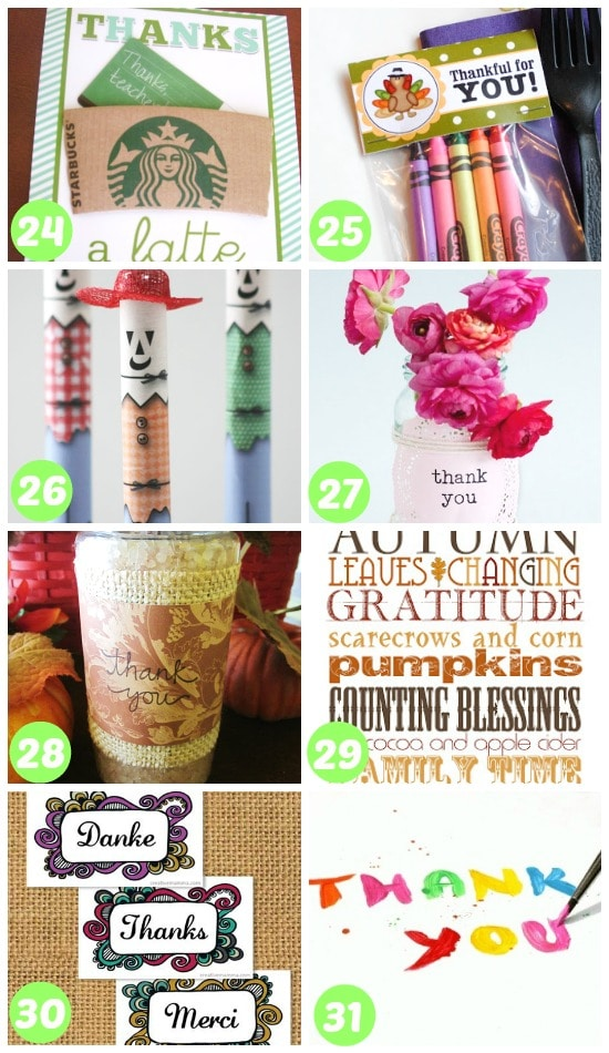 24-31 ways to say thank you with a gift
