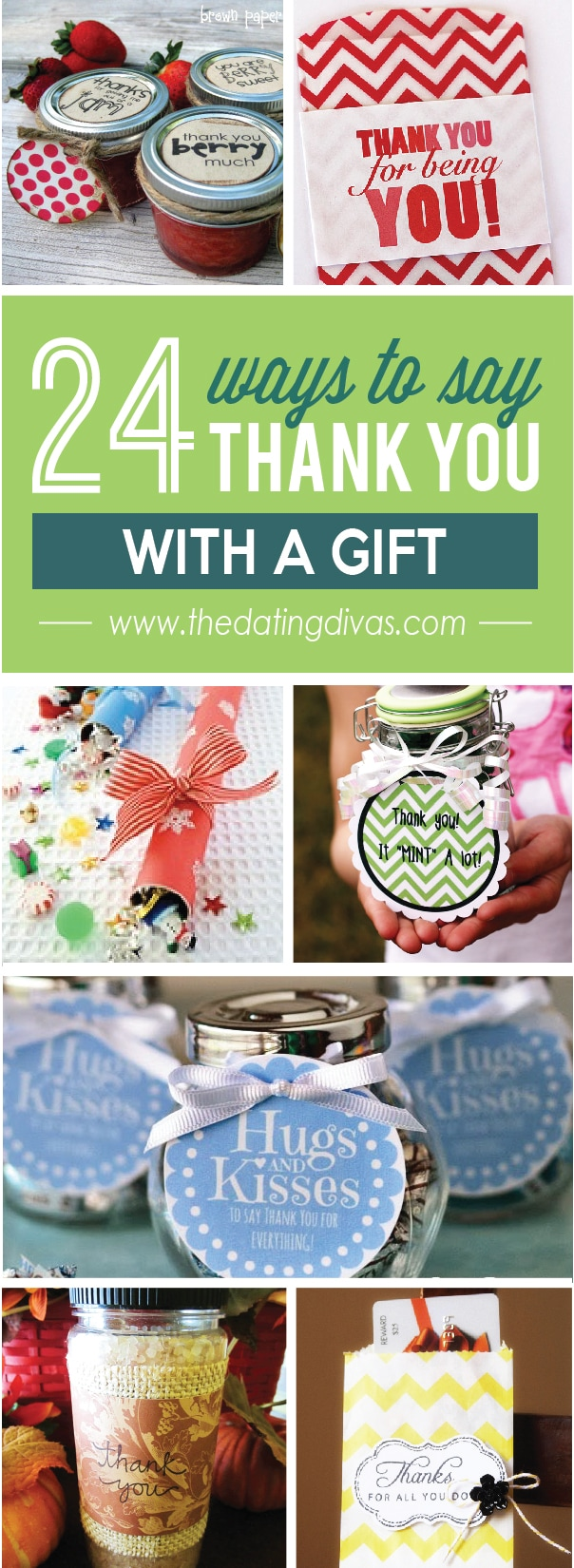 24 ways to say Thank You With a Gift