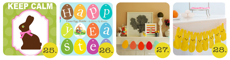 egg and bunny printables for easter