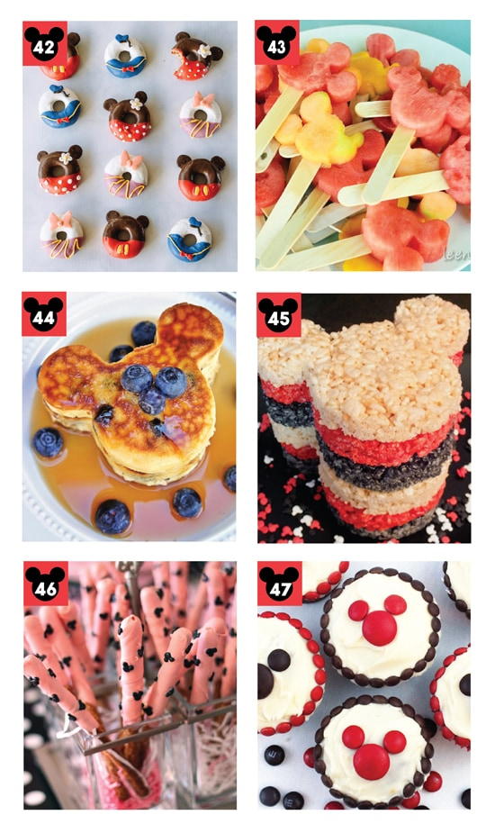 25 Fun Mickey and Minnie Mouse Disney Foods