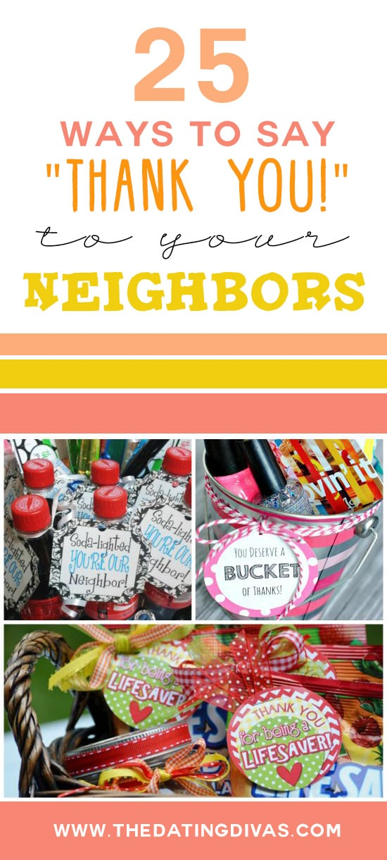 25 Ways to show your gratitude to neighbors!