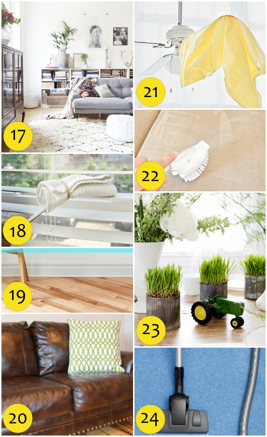 Spring Cleaning tips for the Living Room