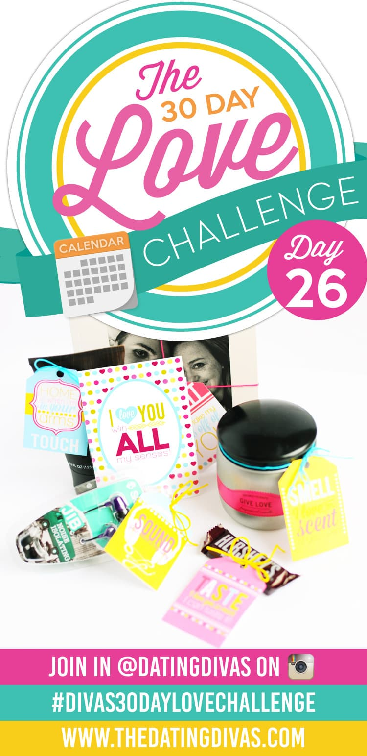 A gift based on the 5 Senses! Easy and adorable- loving the Diva's 30 Day Love Challenge!