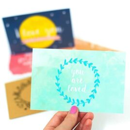 Easy, DIY, love postcards for the 30 Day for Challenge!