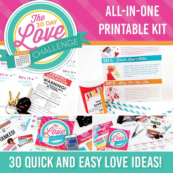 All in one printable pack for the Divas 30 Day Love Challenge!