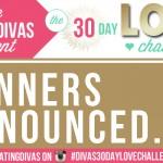 #Divas30DayLoveChallenge Winners!