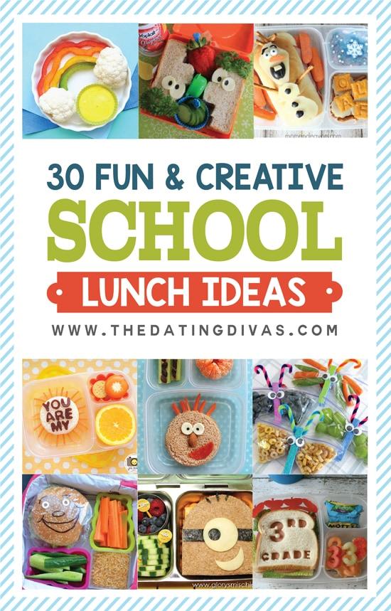 30 Fun and Creative School Lunch Ideas