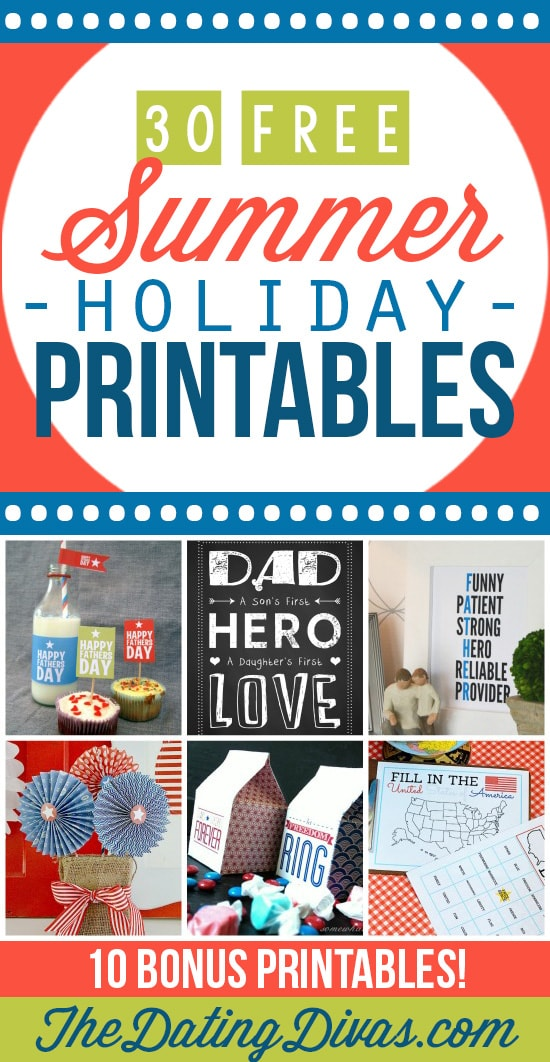 30 Amazing Holiday Printables