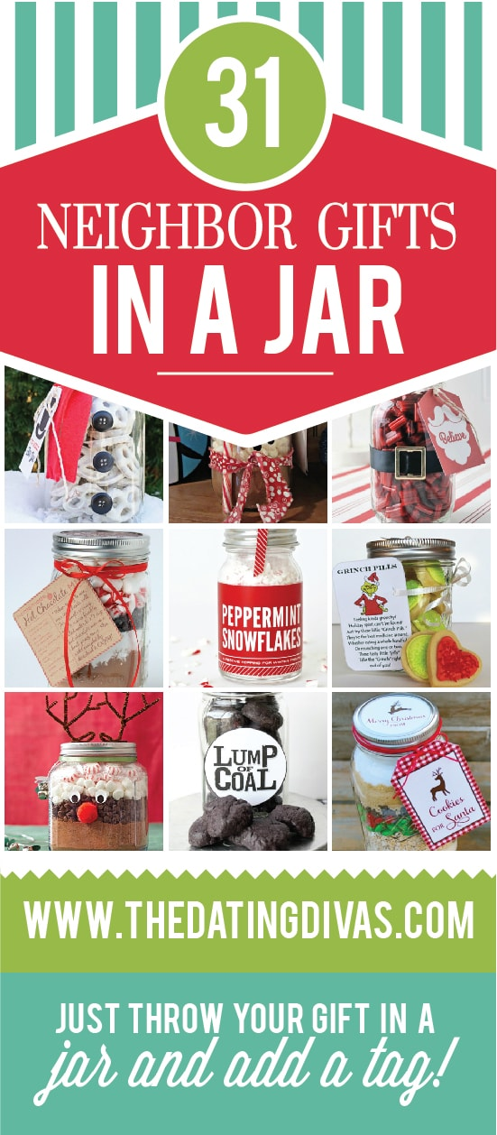 Christmas Gift Ideas for Neighbors In a Jar