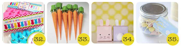bunny and carrot easter printables