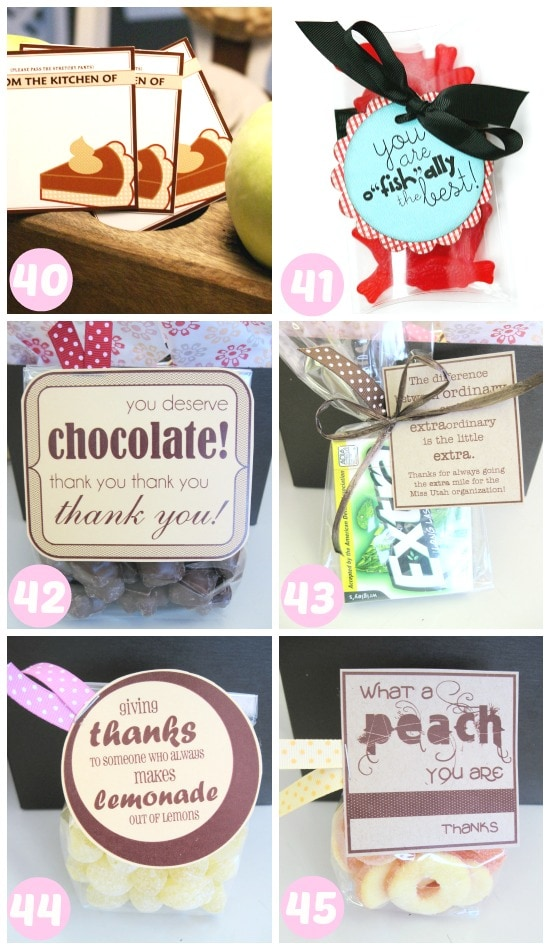 40-45 ways to say thank you with food