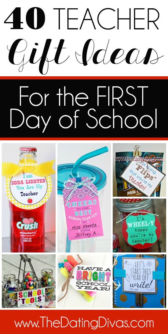 First Day of School Teacher Gift Ideas! #teachergifts #teachergiftideas