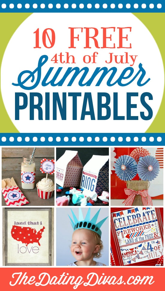 10 Amazing 4th of July Summer Printables