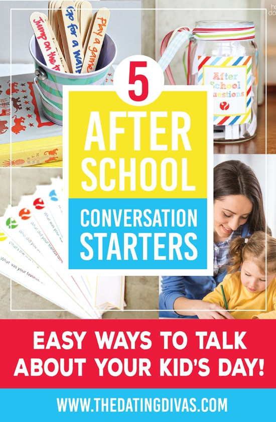 5 Great After School Conversation Starters with Your Kids
