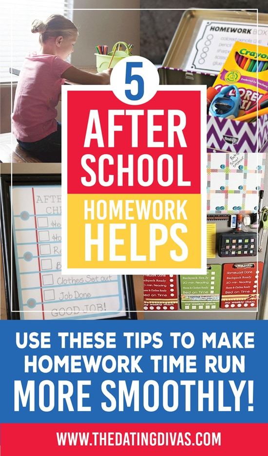 5 Tips for Easier After School Homework Time