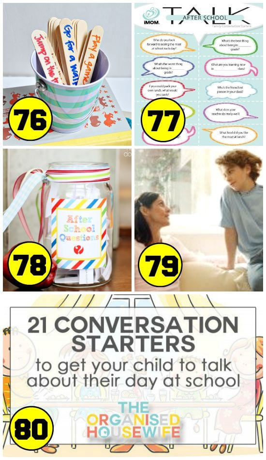 5 Good After School Conversation Starters