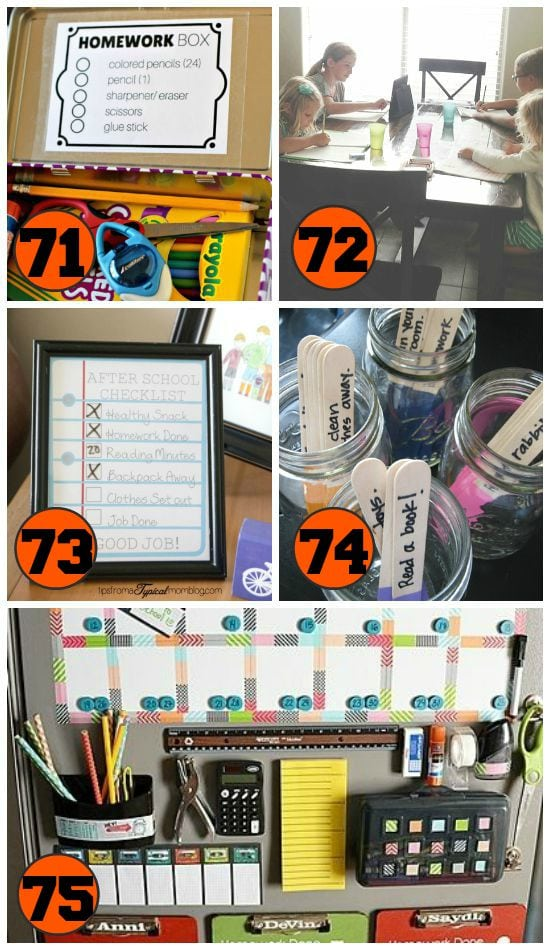 Help homework time run more smoothly with these great ideas!